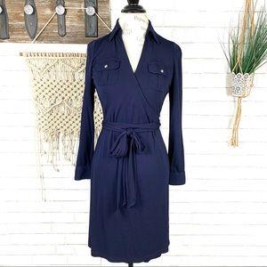 Lauren Ralph Lauren Navy wrap dress size pSmall
